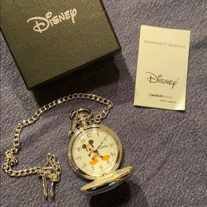 Disney Mickey Mouse Pocket Watch NEW IN BOX